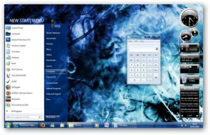 Seven Aero Shine Blue Windows 7 Theme
