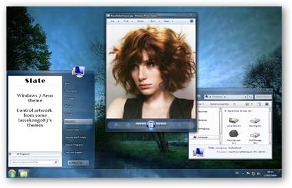 Slate Windows 7 Theme