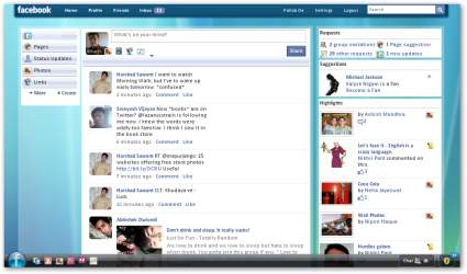 Vista Ultimate Skin for Facebook
