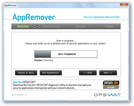 Uninstall Security Application With AppRemover