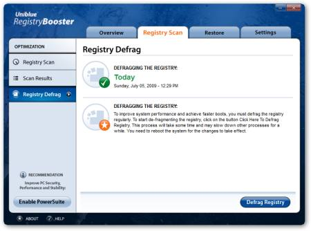 Registry Booster - Defragmenter