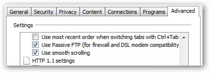 Enable Smooth Scrolling in Internet Explorer