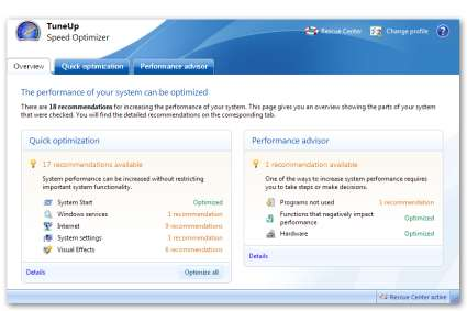 TuneUp Utilities 2009 - Speed Optimizer