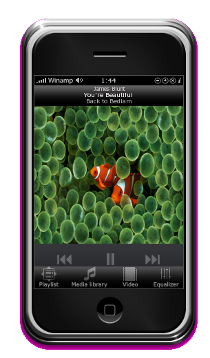 iPhone Skin for Winamp - Without Cd Cover