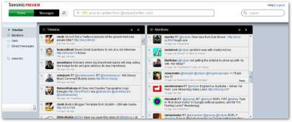 Seesmic Web Twitter Client : Multi Column Mode