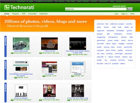 Technorati Homepage
