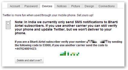 Free Twitter Updates for Indian Users