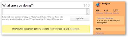 Twitter SMS Updates for Airtel Users