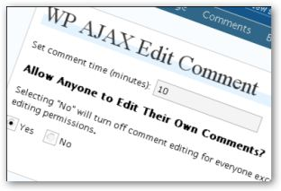 WP Ajax Edit Comments